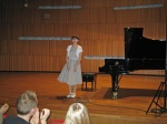 Kristine Ayvazyan on the stage after the concert