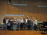 Prof. Hlinka with students and pedagogues of Conservatory